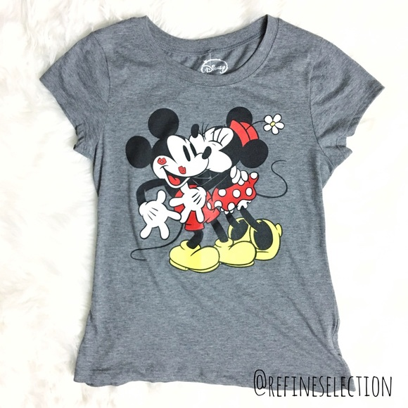 4f2fb58bb Disney Tops | Mickey Minnie Mouse Love Grey Tshirt | Poshmark
